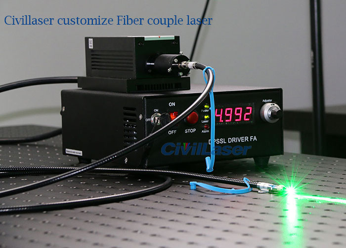 532nm Fiber coupled Laser CivilLaser customized product Deposit